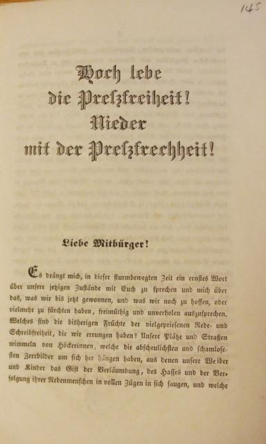 Wien Pamphlets Preszefreiheit