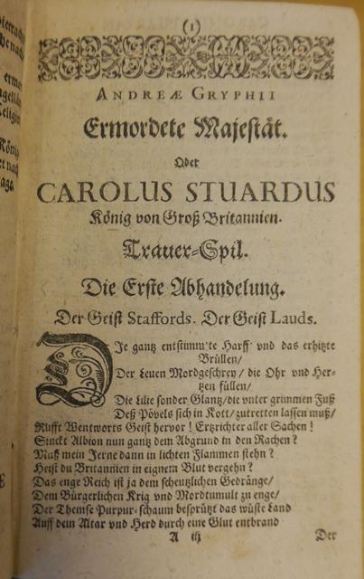Opening of 'Carolus Stuardus'