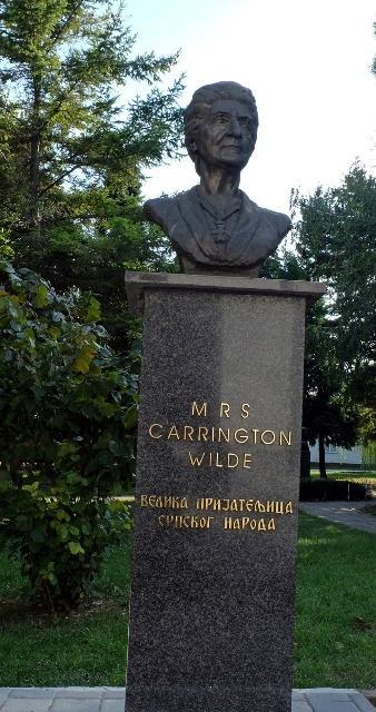 Commemorative bust of Mrs Carrington Wilde