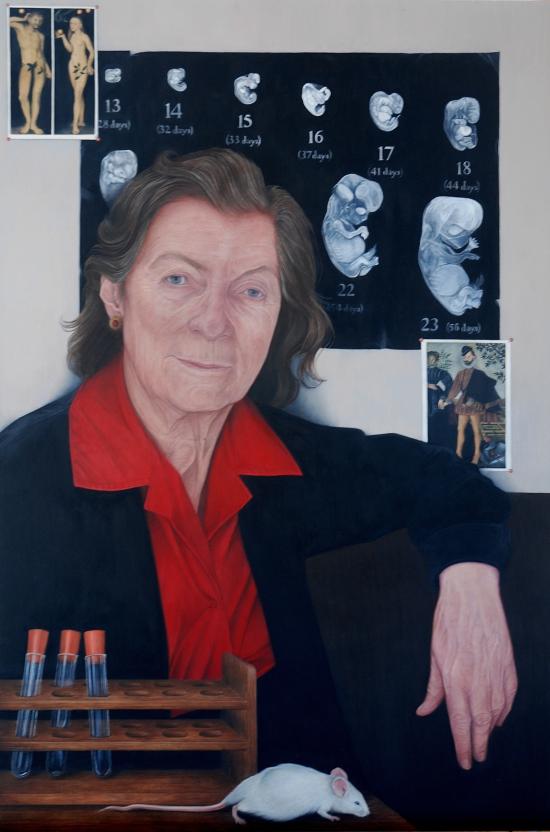 Emma Wesley's portrait of Dame Anne McLaren