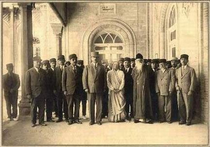Tagore with members of the Iranian Parliament in Tehran