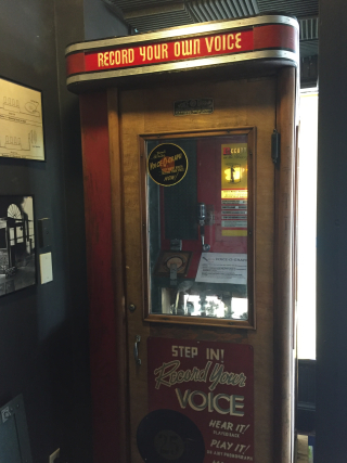 The voice-o-graph recording booth