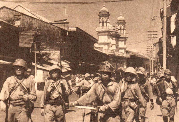 Japanese troops at Singapore 1942