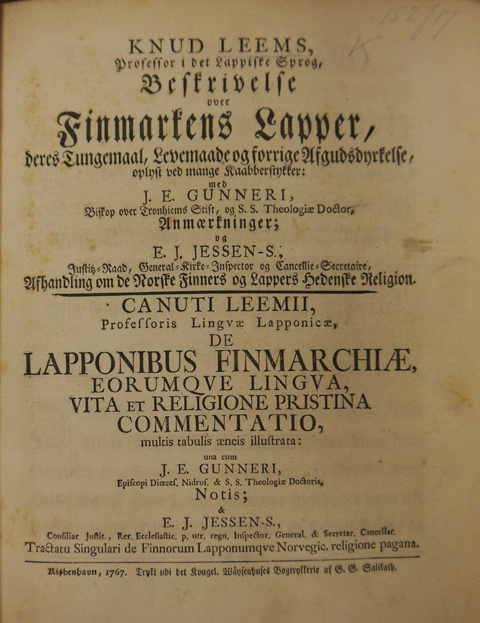 Title page of 'Beskrivelse over Finmarkens Lapper'
