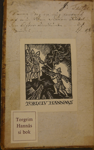 Bookplates of Torgrim Hannås and his father Torleiv
