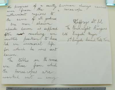 The second and third page of the letter.
