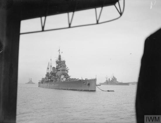 HMS Duke of York at Scapa Flow in 1941