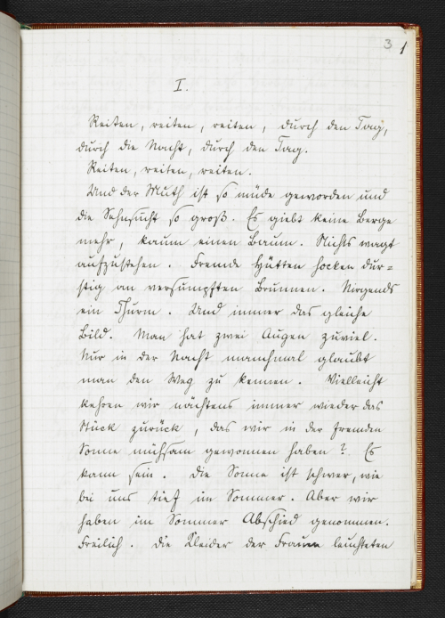 Opening of fair copy manuscript of Rilke's 'Cornet'