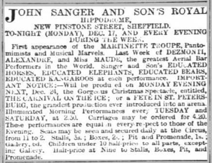 Sanger Circus 1888
