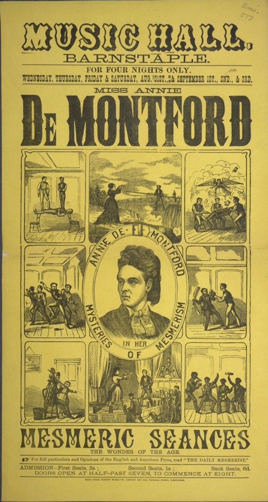 Poster for Annie de Montford's performance at  Barnstaple
