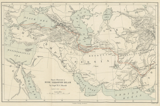 Map of Persia and Afghanistan 1877
