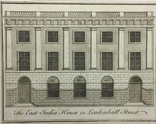 The East India House, no imprint, 1726-1786, British Library, P2189