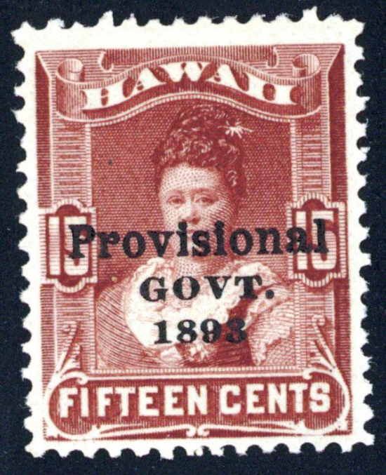Queen Kapiolani - portrait on stamp