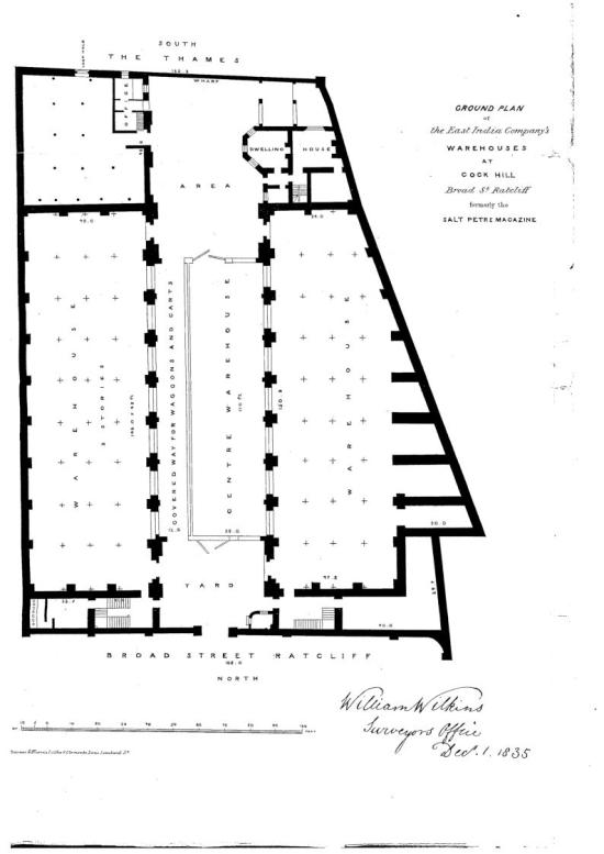 Saltpetre warehouse ground plan