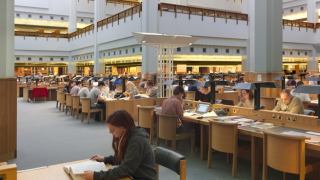 British Library Reading Room in St Pancras