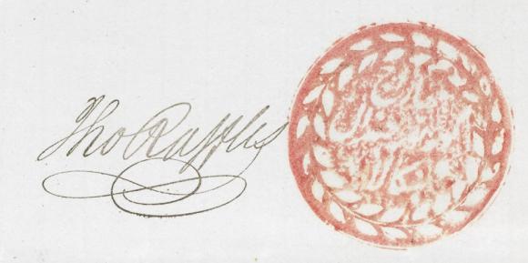 Raffles seal
