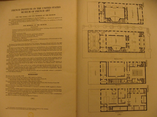 French Museum plan