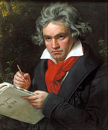 Portrait of Ludwig van Beethoven by Joseph Karl Stieler 1820