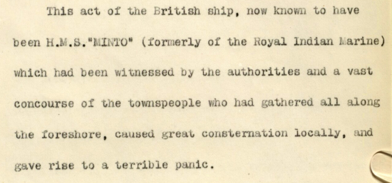 Extract of a report of the incident at Hodeidah, written by the British Consul, George Richardson