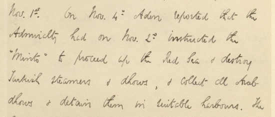 Extract of a note written by Arthur Hirtzel of the India Office, 1915