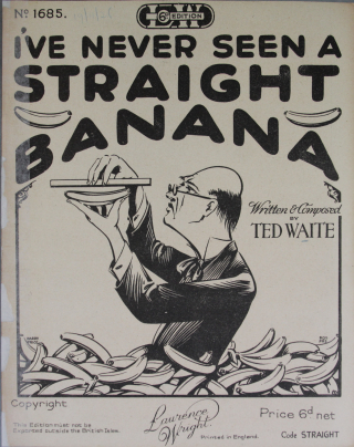 I've never seen a straight banana title page