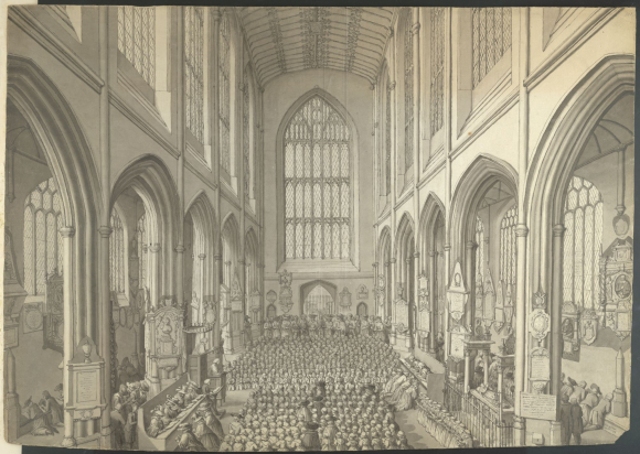A service in Bath Abbey (1788)