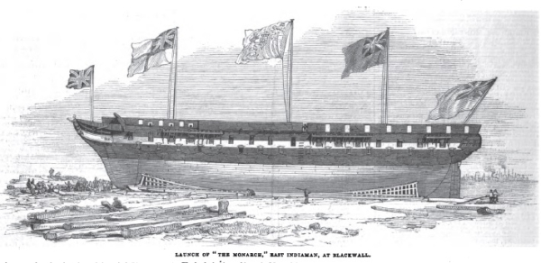 Launch of the Monarch at Green's Yard Blackwall