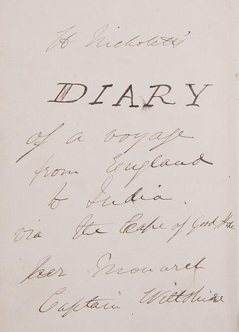 Nicholetts diary 1