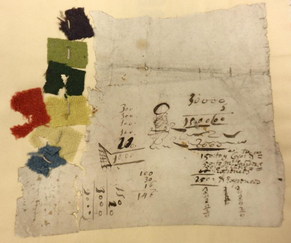 Thomas Bowrey's cloth samples