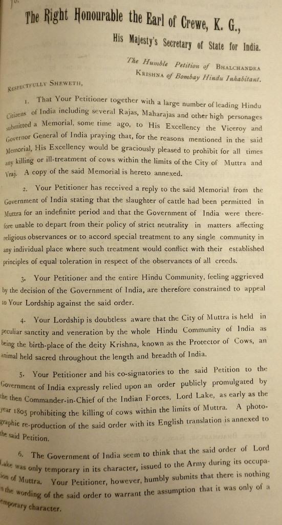 Bhalchandra Krishna Petition