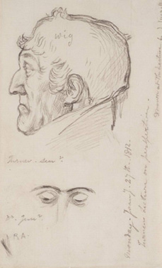 John Linnell's drawing of Old Dad made in 1812