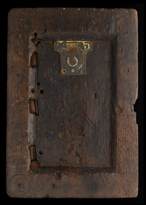 A 12th-century manuscript binding.