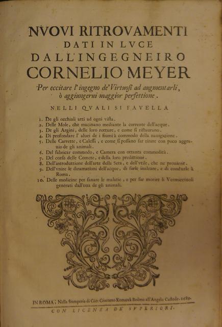 Meyer Nuovi Ritrovamenti 1689