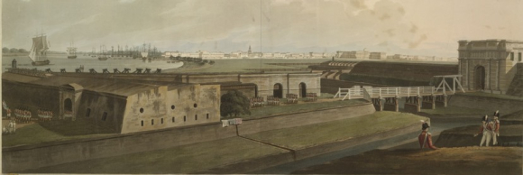 Calcutta from Fort William Ktop CXV 46-a