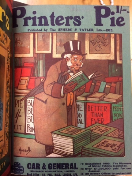 Cover image of Printer's Pie, one of the magazines read by Alfred