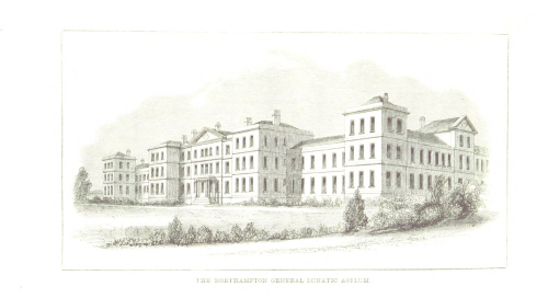 Drawing of the Northampton General Lunatic Asylum