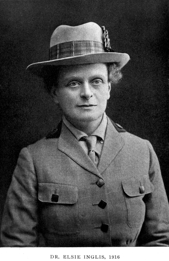 Photograph of Dr Elsie Inglis in 1916