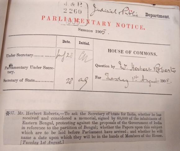Document on Parliamentary Question