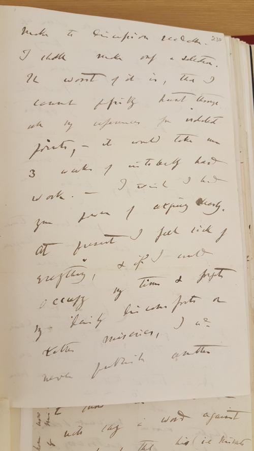 Sample of Charles Darwin's small, untidy handwriting