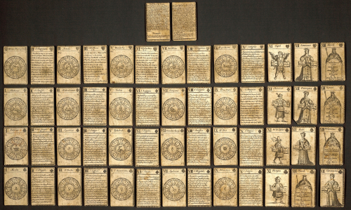 A pack of 52 cartomancy cards from the 1700s, used to predict the future.