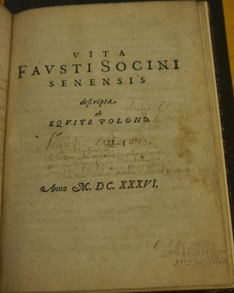 Arians Vita Socinus