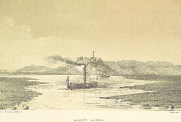 Drawing of ship during Euphrates expedition