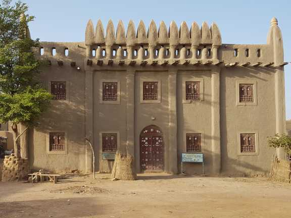 The facade of Djenne Manuscript Library