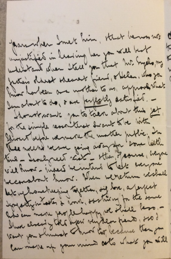 Page of letter from Eleanor Marx to Dollie Radford