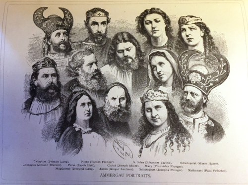 Portraits of the principal characters in the 1890 Passion Play