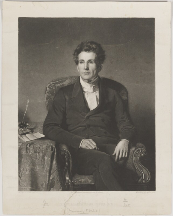 Alexander Duff by James Faed the Elder, mezzotint, published November 1851, NPG D35771 © National Portrait Gallery, London [Licensed under Public Domain]