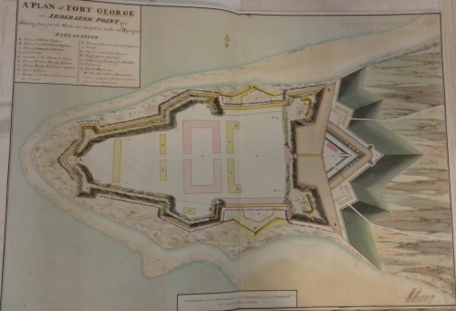 Colour plan of Fort St George