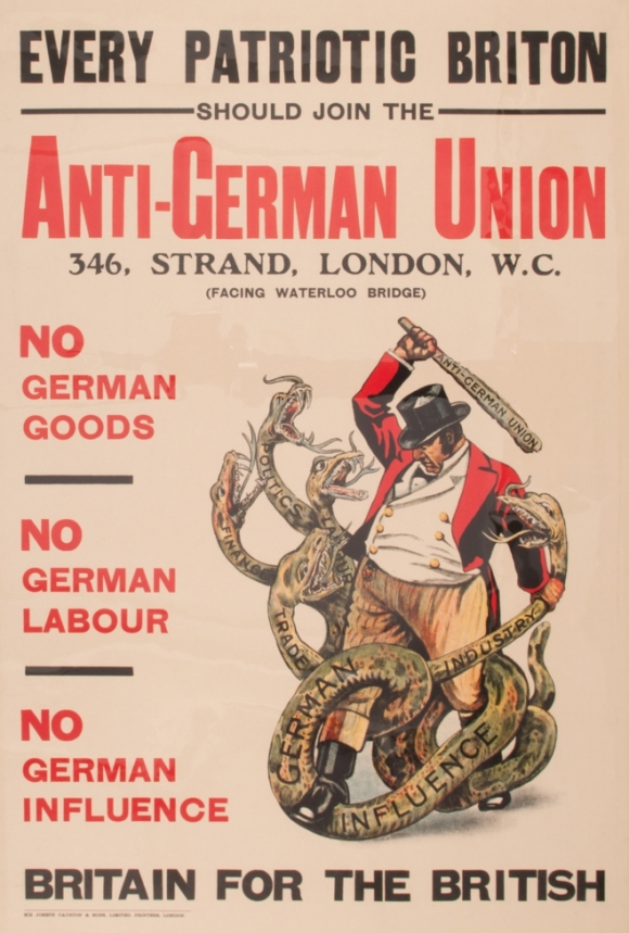 Poster for Anti-German Union 1915