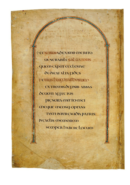 The dedication page of Codex Amiatinus