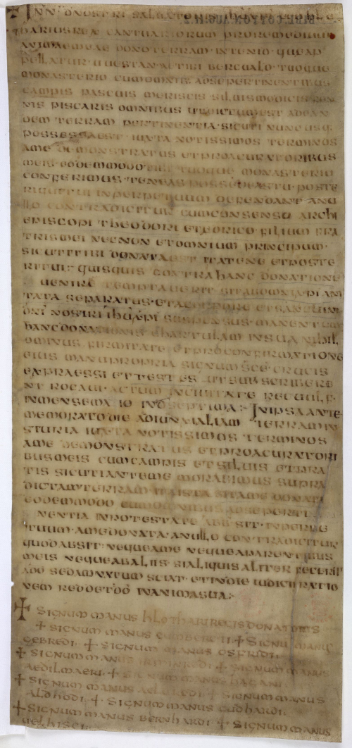 The earliest surviving Anglo-Saxon charter.